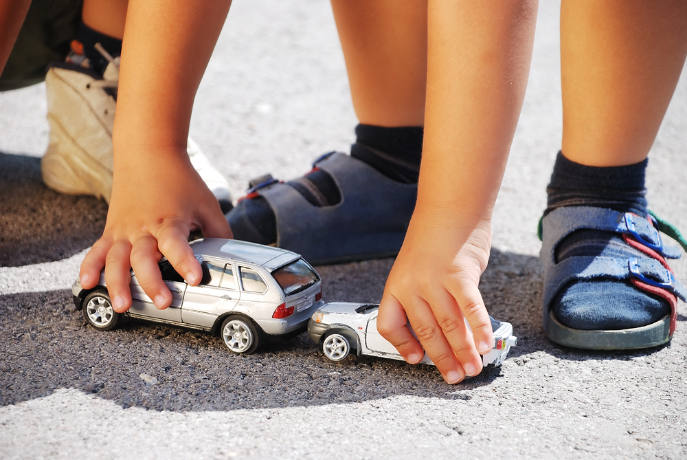 Toy Cars getting into an Accident